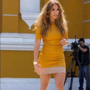 A.L.C yellow leather dress